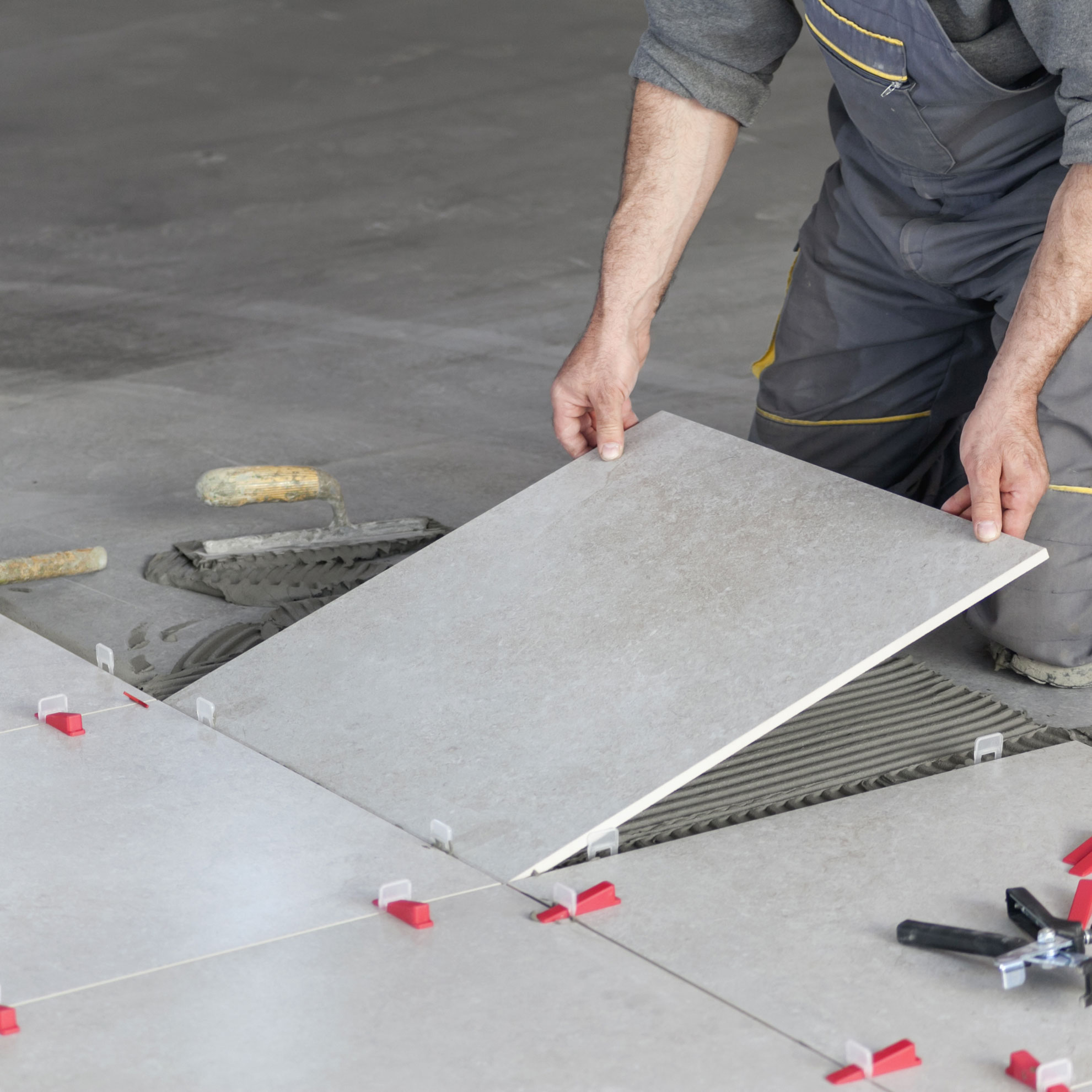 Tile laying technology 96