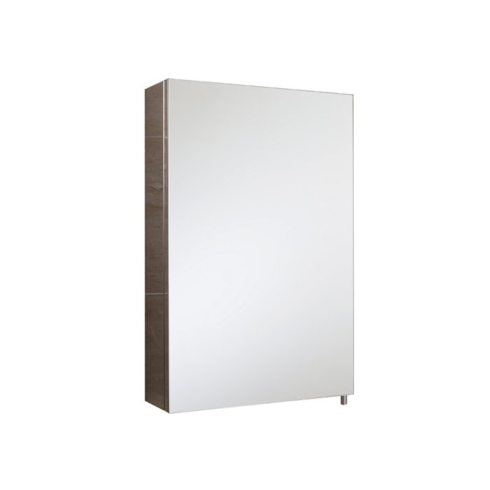 Cube Stainless Steel Single Cabinet with Single Mirrored Door (H)600x(W)400x(D)120mm