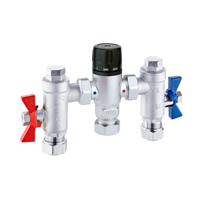 Compact Commercial Thermastatic mixing valves 15mm