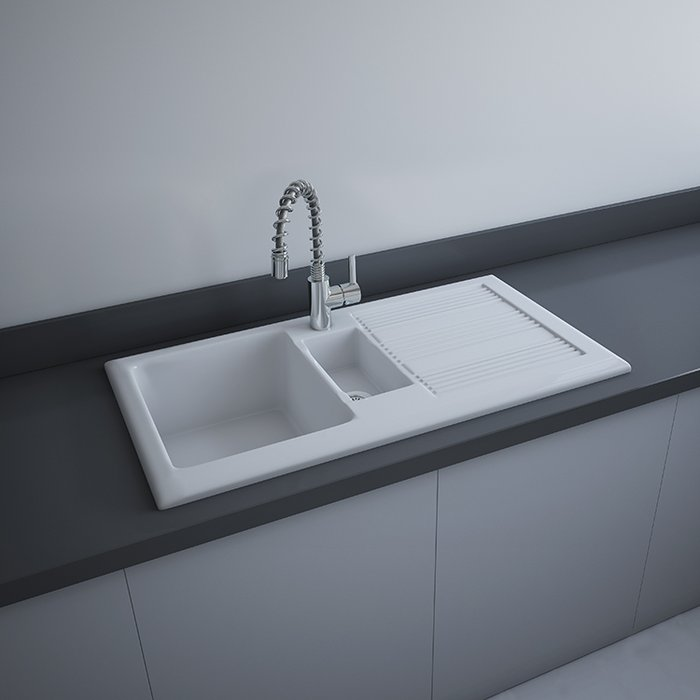 Fire Clay Kitchen Sink | RAK Ceramics