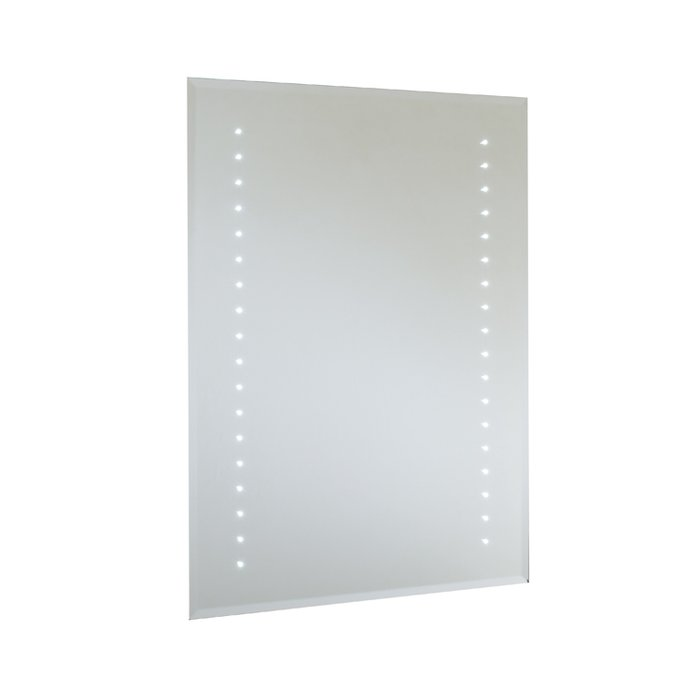 Rubens LED Bevel Edged Mirror with On/Off Rocker Switch, Shaver Socket & Demister Pad. (H)600x(W)400mm