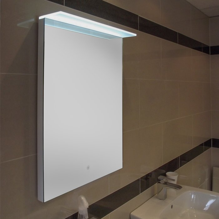 Manhattan LED Mirror with Demister Pad (H)700x(W)500mm