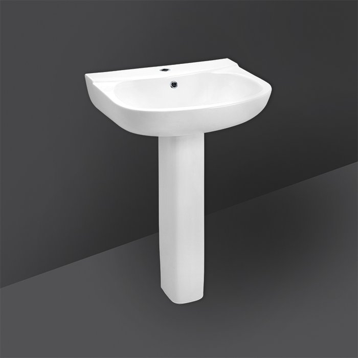 FLORA FULL PEDESTAL WASH BASIN 55CM