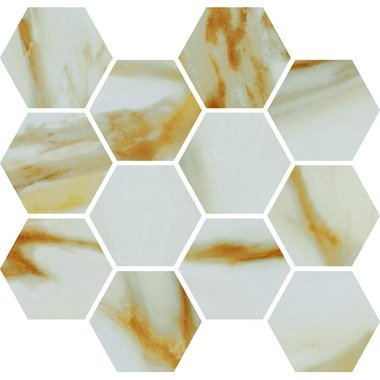 CALACATTA GOLD / Mosaic / Smooth / High glossy / Straight