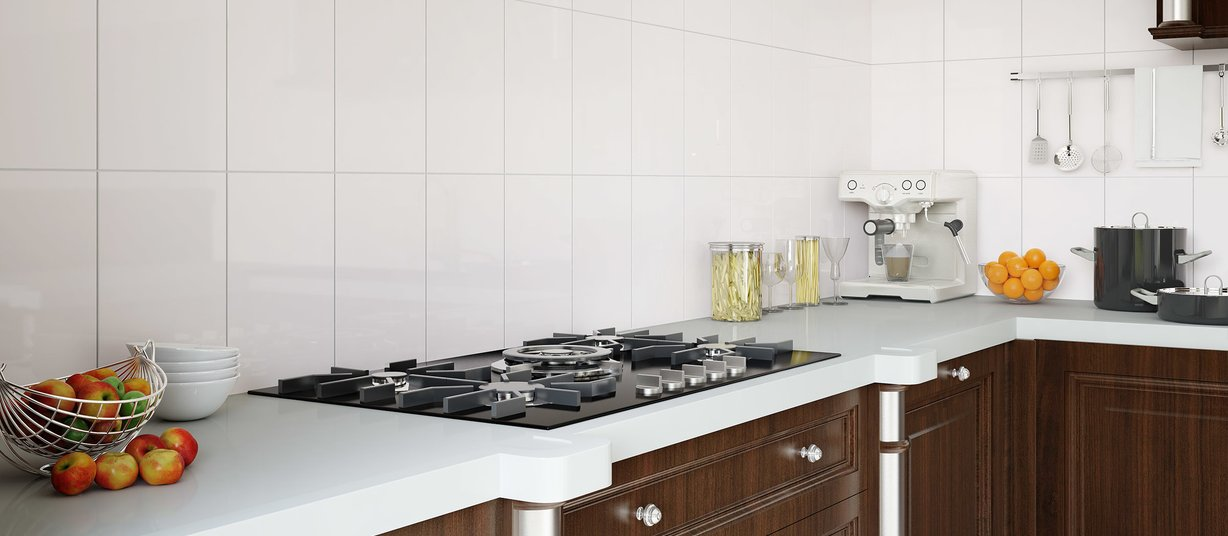200 White tiles Country style Kitchen