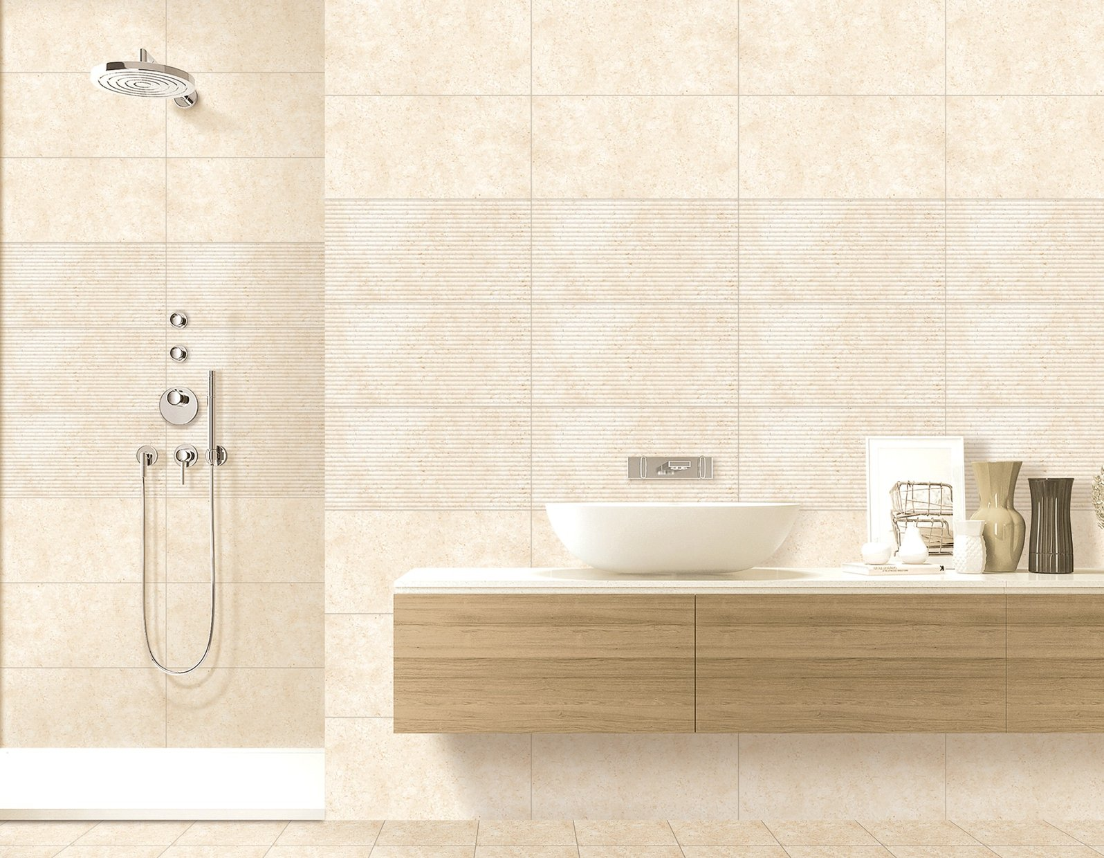 armenia Beige tiles Modern style Bathroom