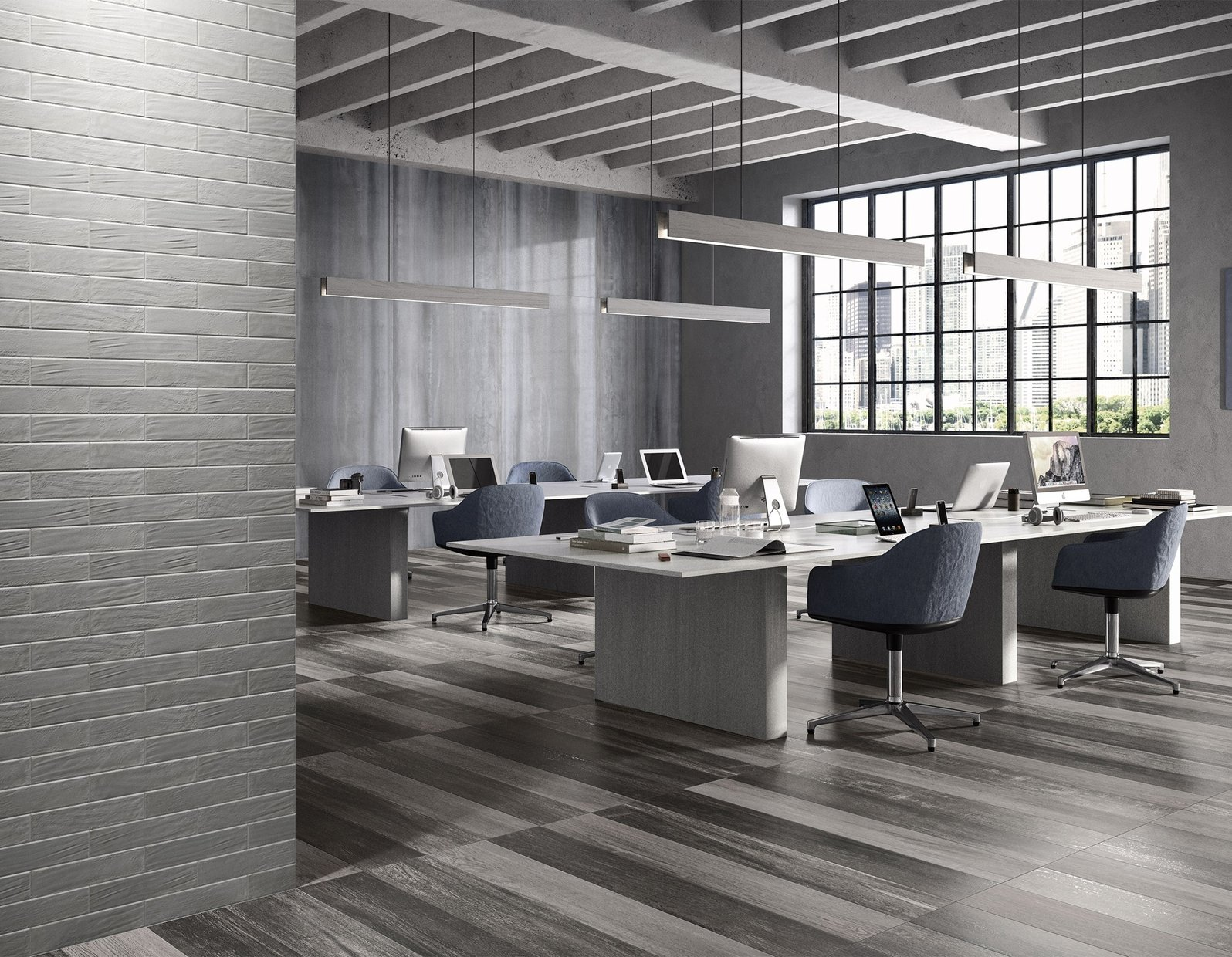 capital wood Grey tiles Modern style Light Commercial