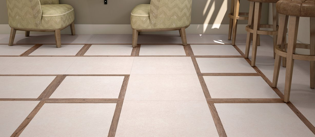 captur Beige, Brown, Ivory and Mix tiles Modern style Living