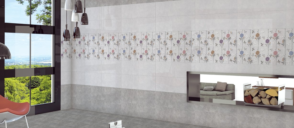 cementino Grey tiles Modern style Living