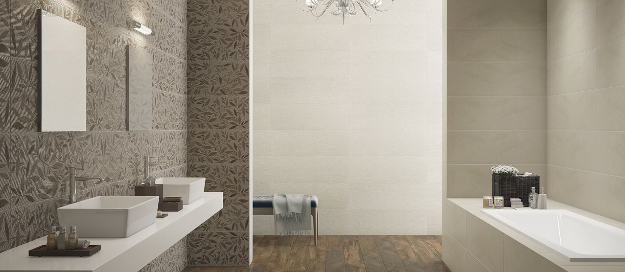 circle wood Brown tiles Modern style Bathroom