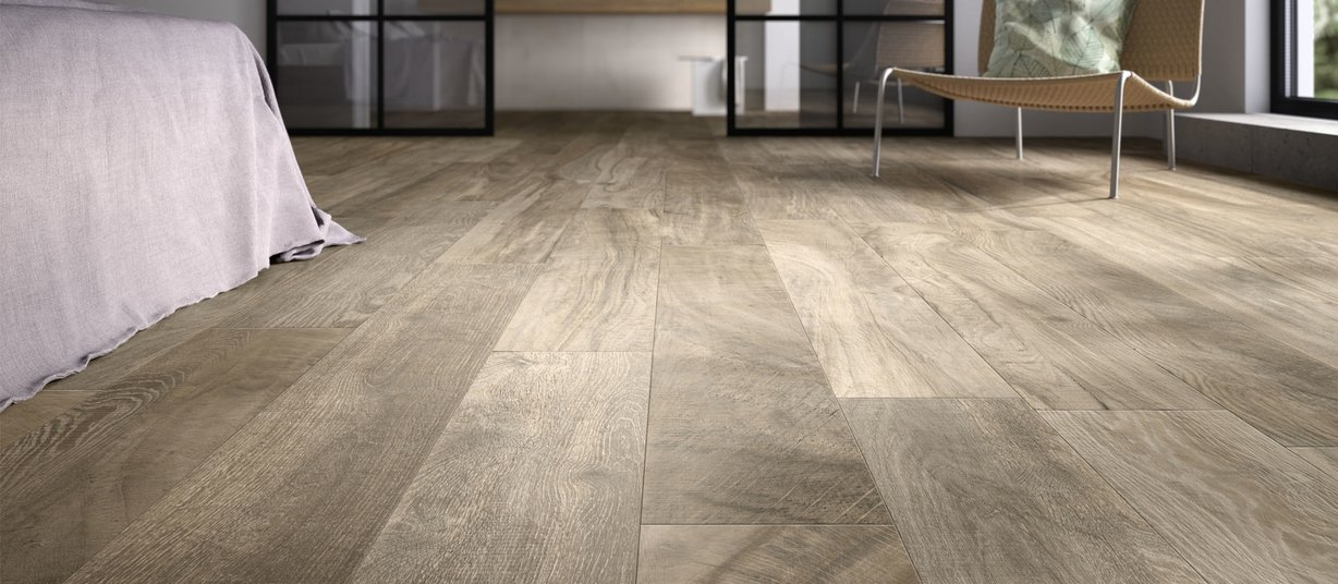 Circle wood Marrone piastrelle Moderno stile Living