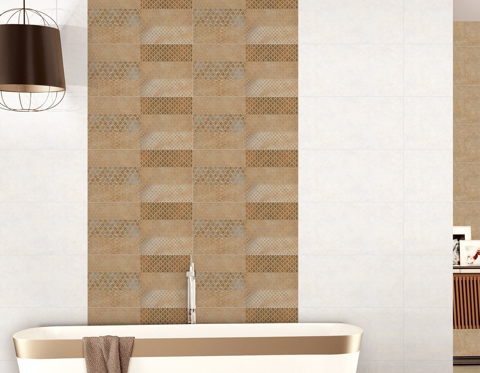 columbia Brown tiles Modern style Bathroom