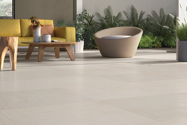 Design concrete Ivory tiles Modern style Living