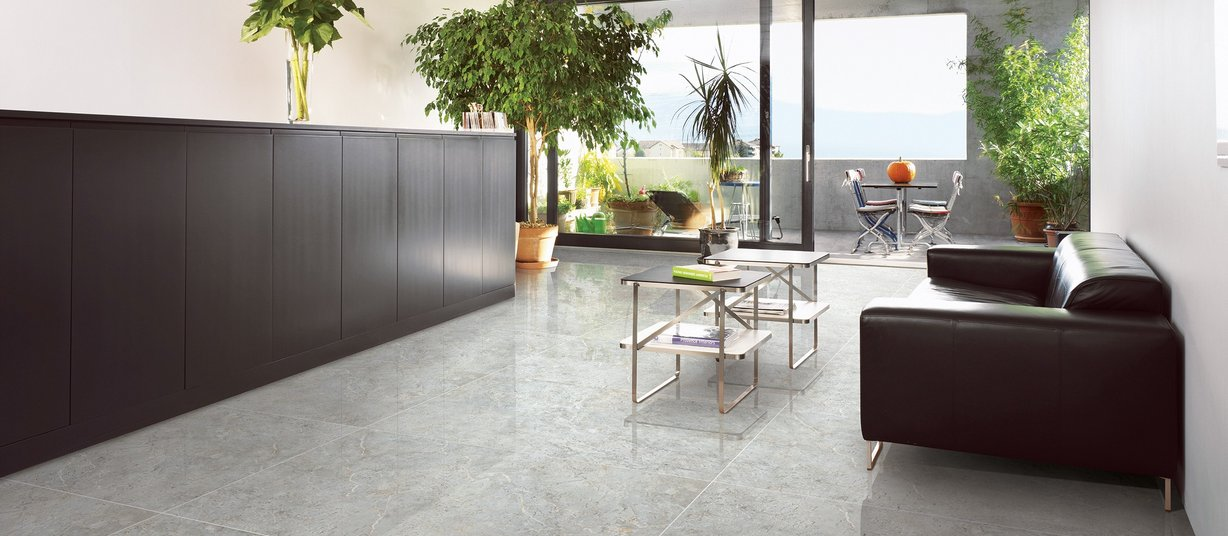 detroit Grey tiles Modern style Living