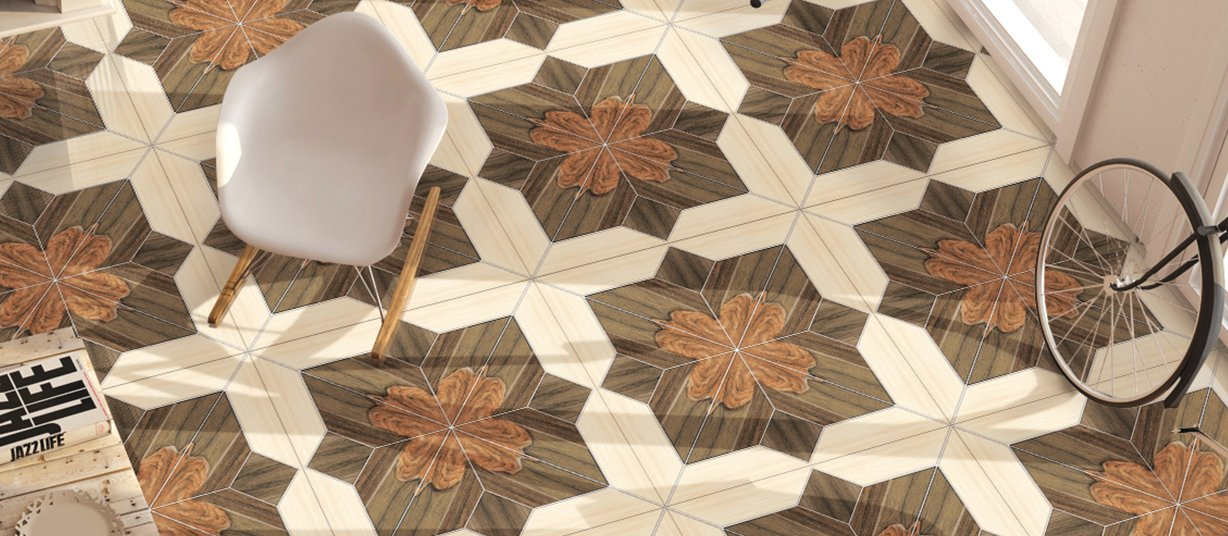 diamond Mix tiles Modern style Living