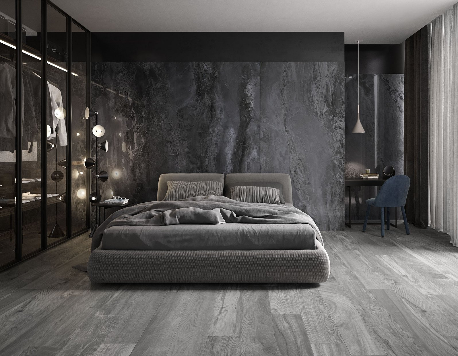 elle marble Blue and Grey tiles Modern style Living