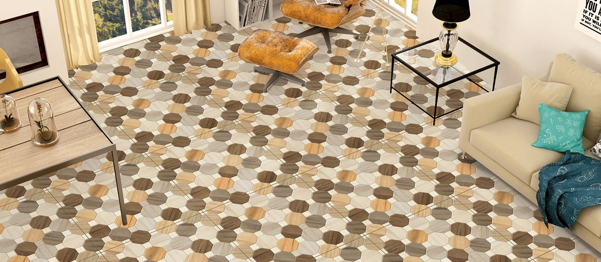 english Mix tiles Modern style Living