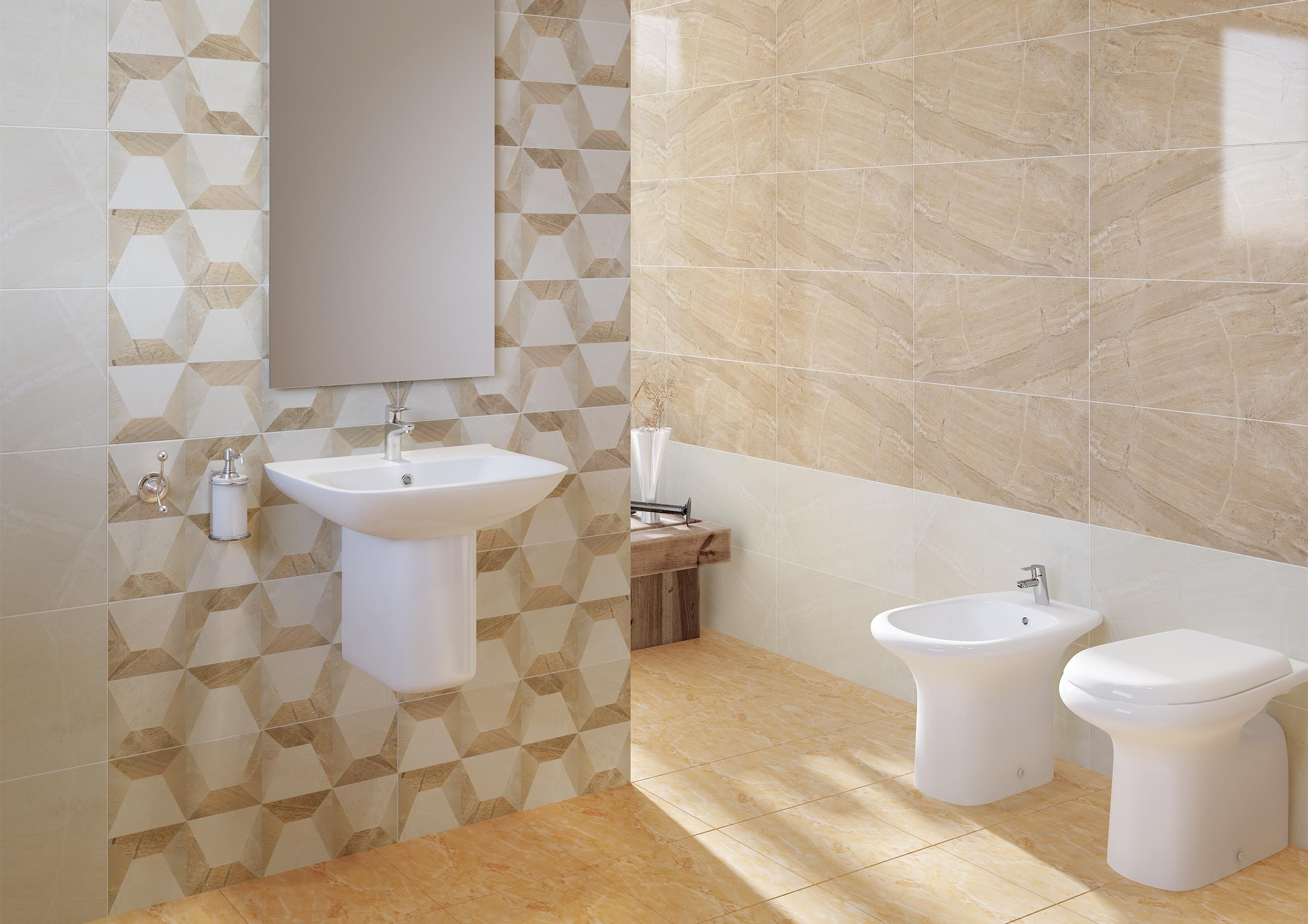 Floor and wall bathroom tiles | RAK