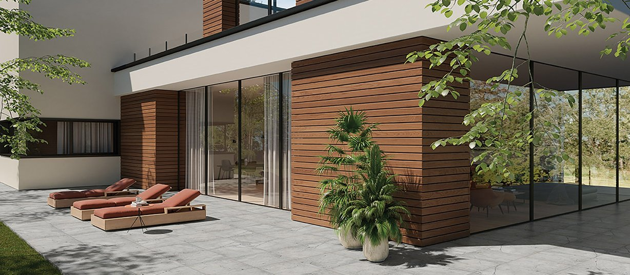 French Vanilla Grey tiles Modern style Outdoor