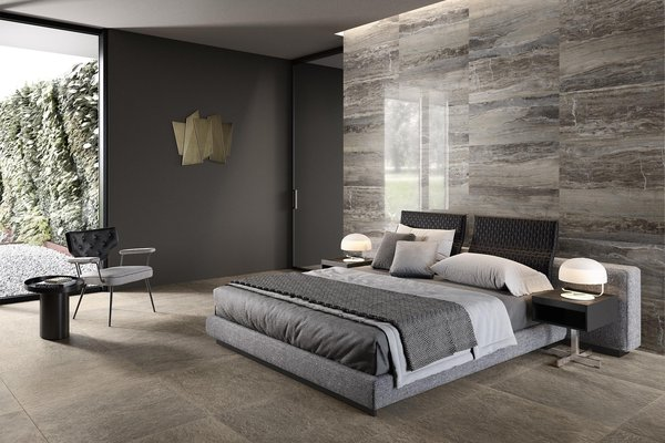 glam marble Grey tiles Modern style Living