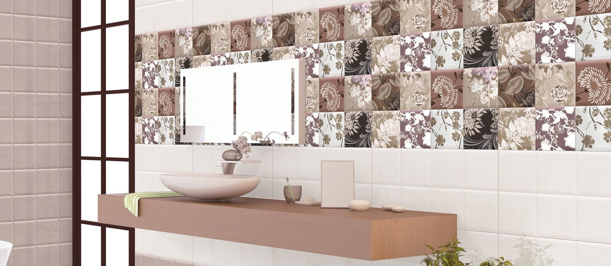 jaipur Mix tiles Modern style Bathroom