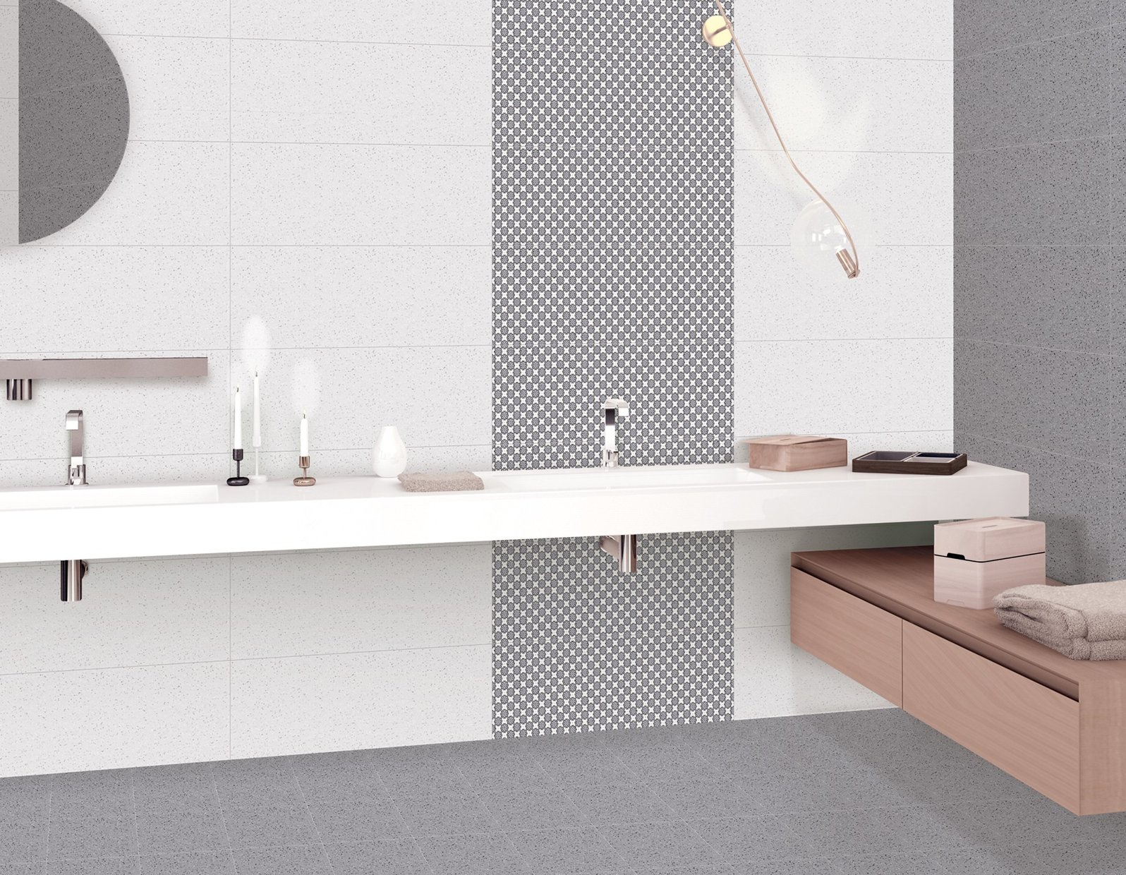 korian Black and Mix tiles Modern style Bathroom