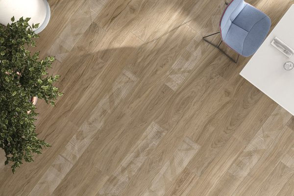 line wood Brown tiles Modern style Living