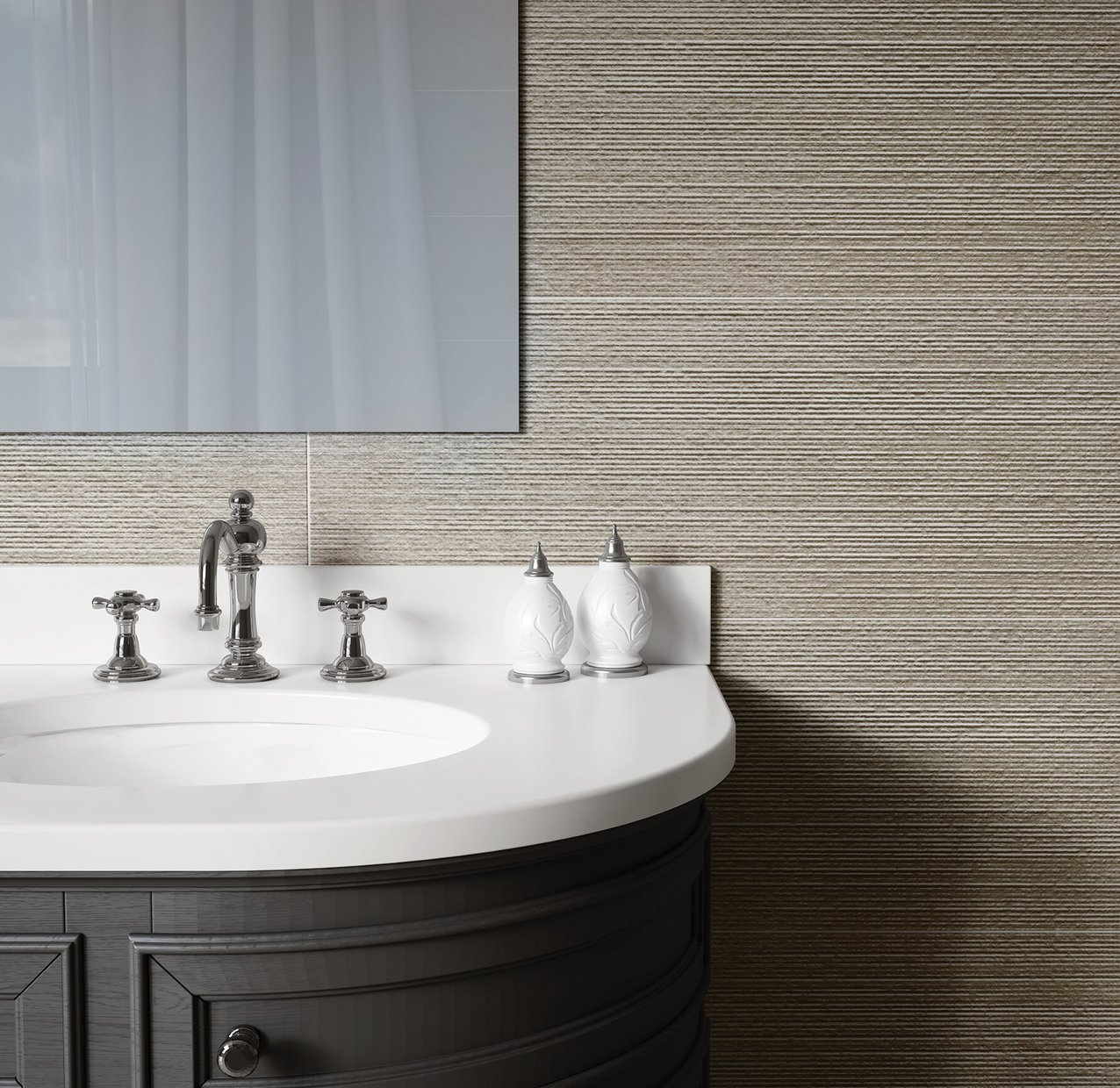 Linz Beige tiles Modern style Bathroom