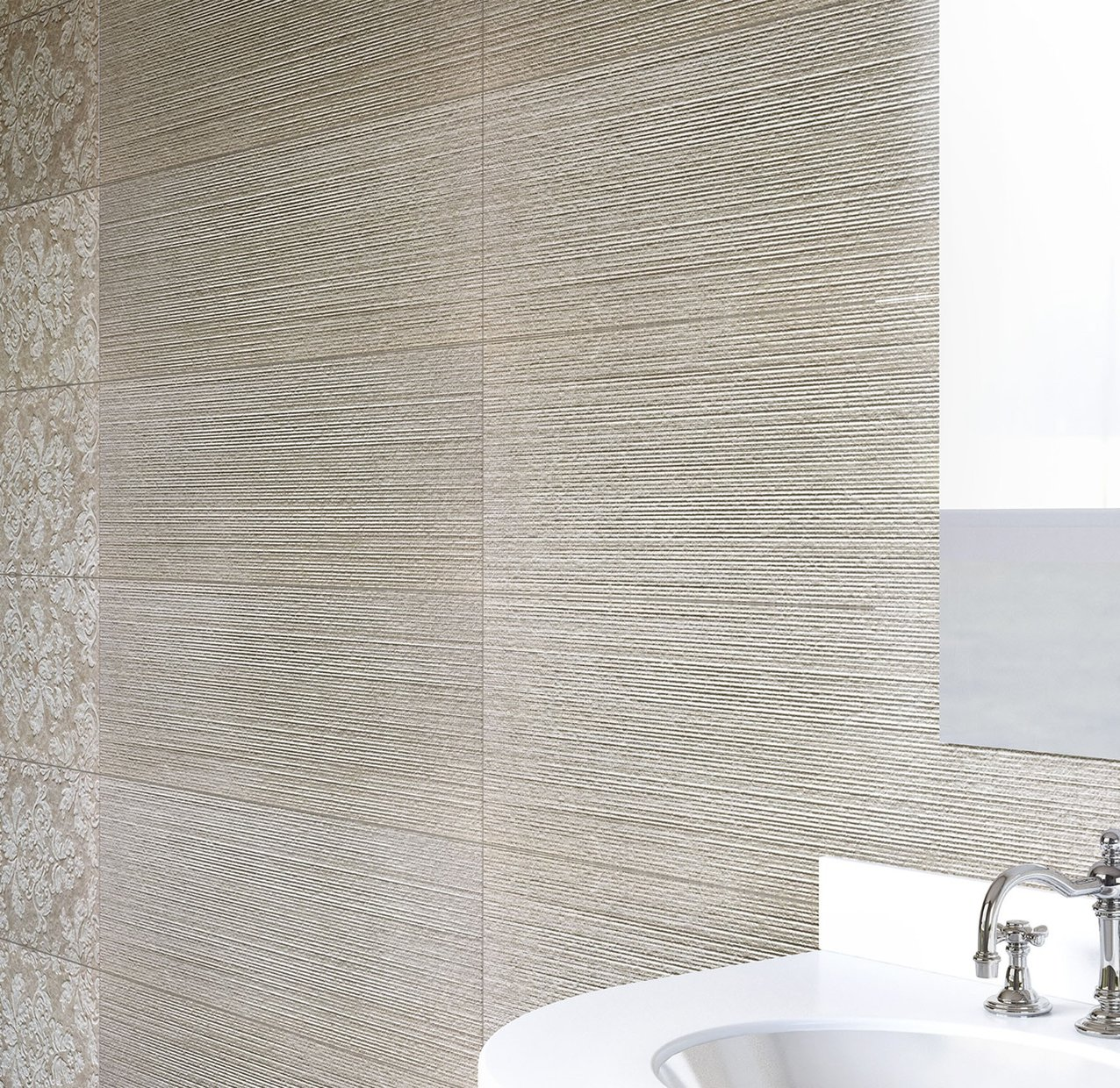 Linz Beige and Mix tiles Modern style Bathroom
