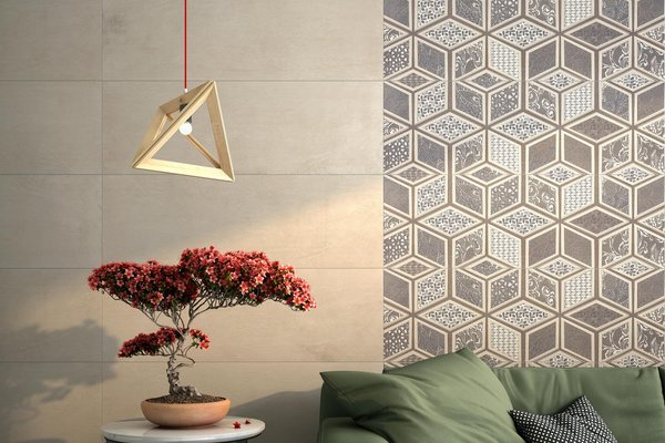 lithos Brown and Mix tiles Modern style Living