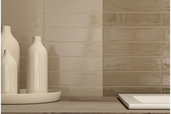 loft brick Beige and White tiles Modern style Bathroom
