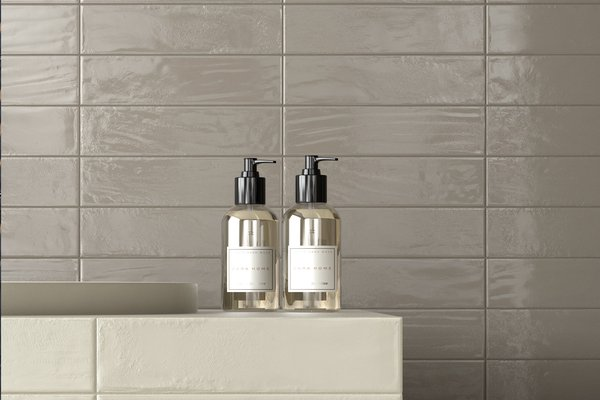 loft brick Grey tiles Modern style Bathroom