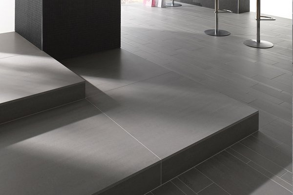 lounge Grey tiles Modern style Living
