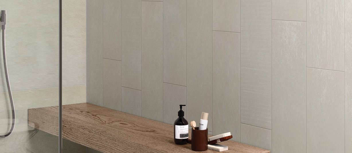 m project wood Beige tiles Modern style