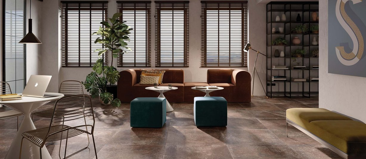 Maremma  Brown tiles Modern style Living