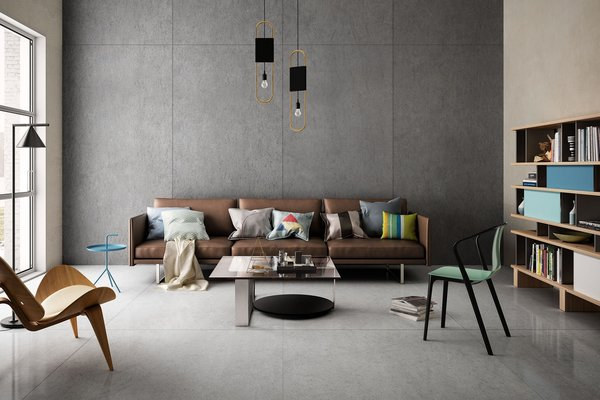 maximus basaltina stone Grey tiles Modern style Living