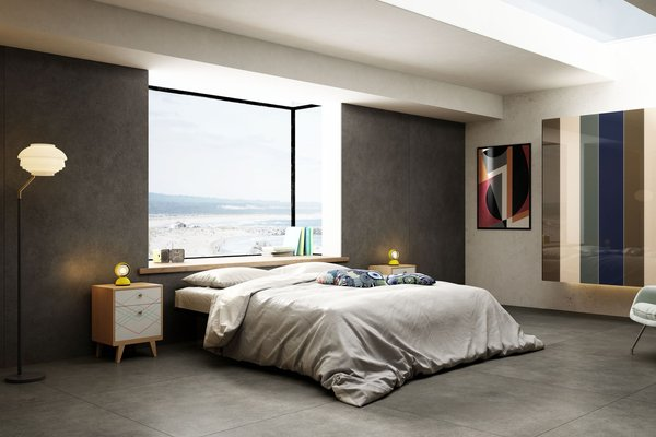maximus behind Grey tiles Modern style Living