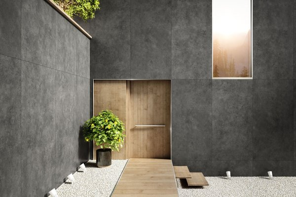 maximus behind Black and Grey tiles Modern style Outdoor