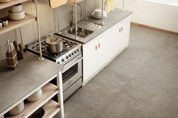 maximus behind Beige and Brown tiles Modern style Kitchen