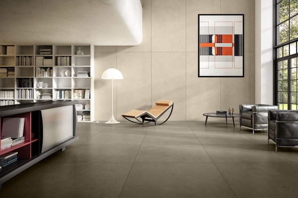 maximus behind Beige tiles Modern style Living
