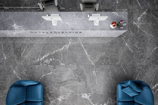 maximus blu del belgio Anthracite, Black and Grey tiles Modern style Light Commercial