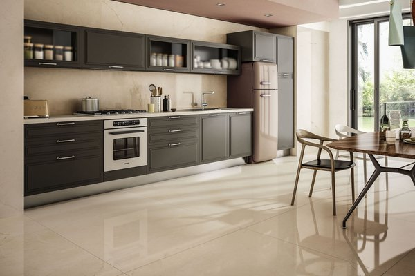 Maximus classic Beige tiles Modern style Kitchen