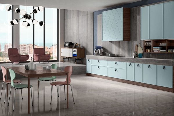 maximus new travertino Ivory tiles Modern style Kitchen