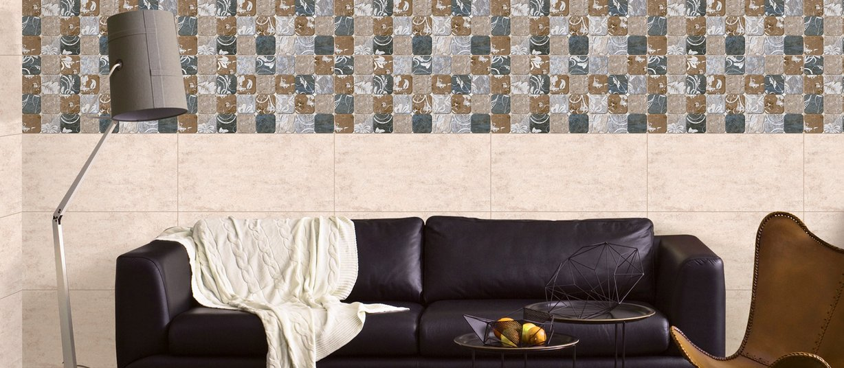 mount blanc Mix tiles Modern style Living