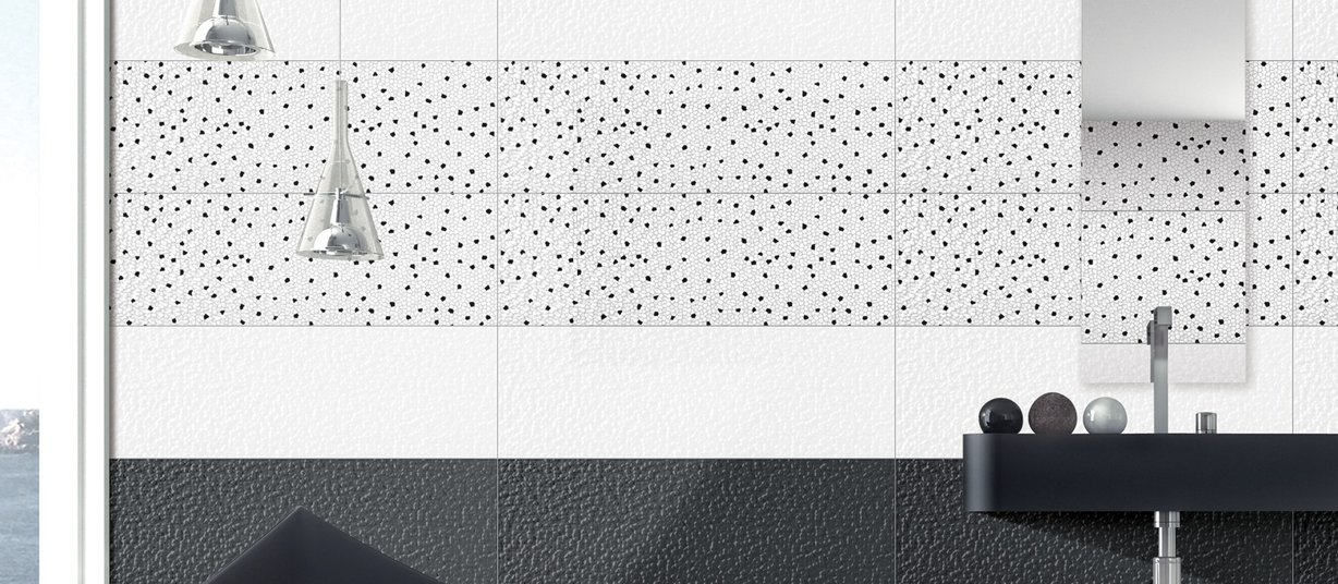 nanopix roma Black and White tiles Modern style Kitchen