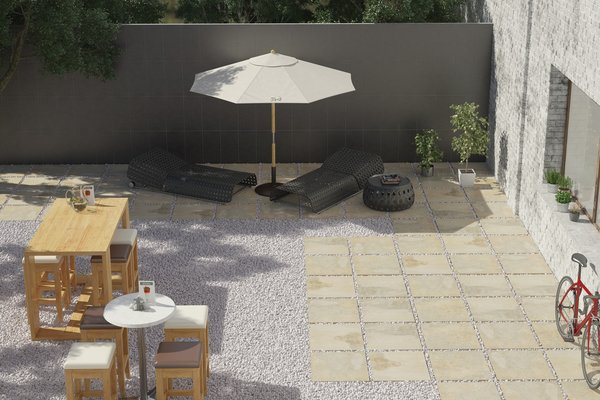 outdoor collection Beige, Brown and Grey tiles Modern style Outdoor