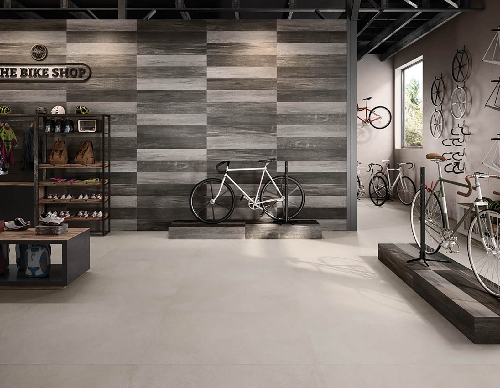 revive concrete xl Brown and Grey tiles Modern style Living