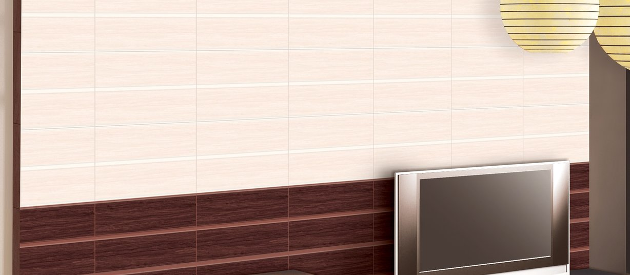 rosewood Brown tiles Modern style Living