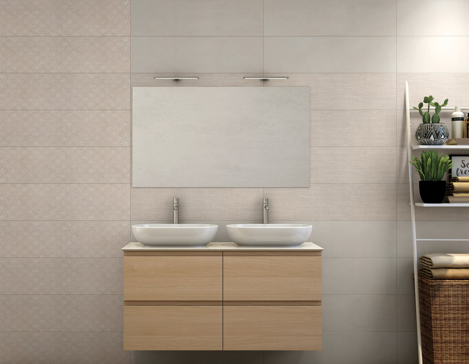 segreto Beige tiles Modern style Bathroom