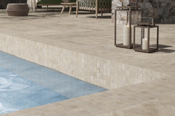 swimming pool Beige, Blue and Brown tiles Modern style Wellness and Swimming Pools